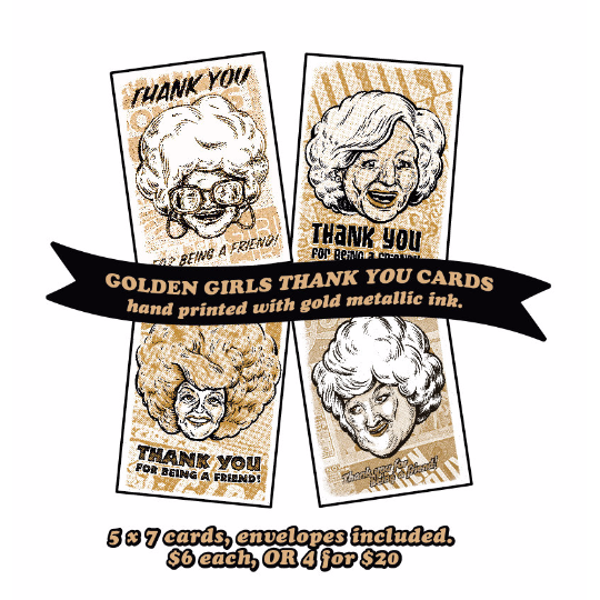 Thank You for being a friend -  Golden Girls Thank You Cards - Full Set
