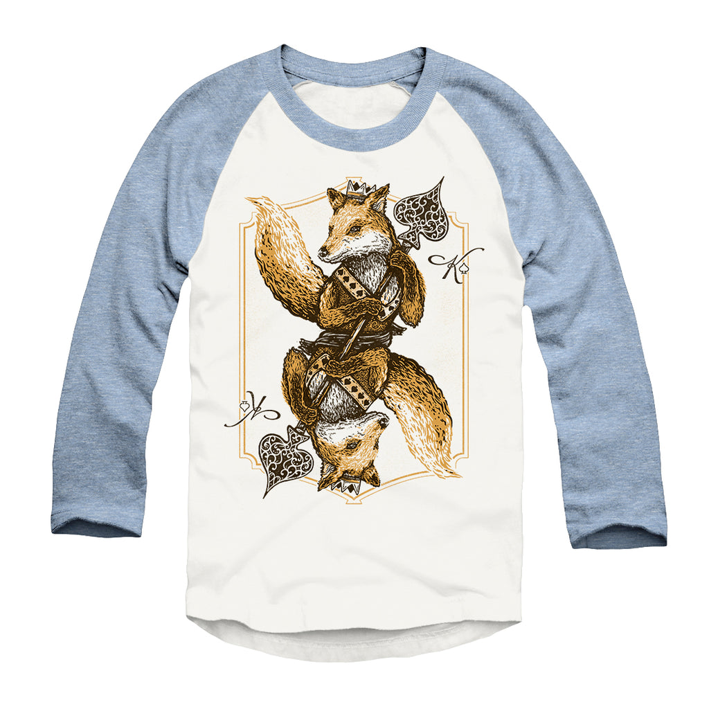 Fox of Spades - Unisex - Triblend Raglan-Apparel- Quarrelsome Yeti