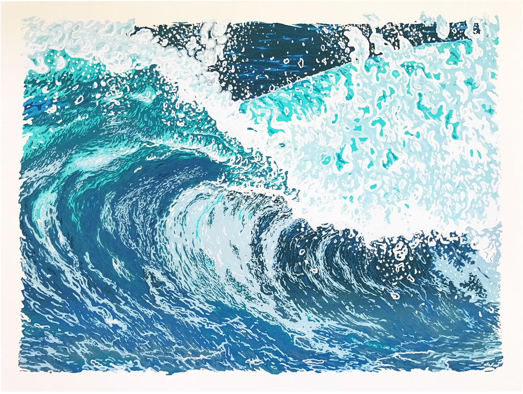 Johhny Utah - 18 x 24 Wave Screenprint