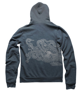 Tentacles with Bird - Pullover Hoodie