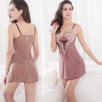 fb1a779f90d New Style Fashion Women Ladies Sexy Lace Satin Lingerie Sleepwear Night  Gown Babydoll Slips Nightie Robe