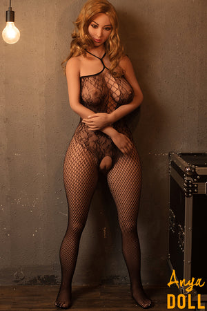 160cm Real Sex Doll Big Butt Gold Hair Sandra