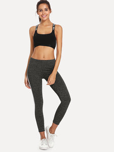 Side  Elastic Waist Leggings