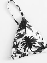 Load image into Gallery viewer, Palm Tree Top With Ladder Cut-out Bikini