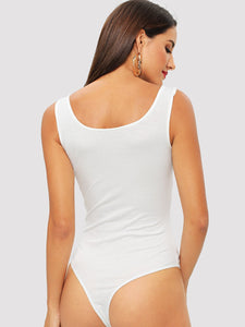 Solid Form Fitting Bodysuit
