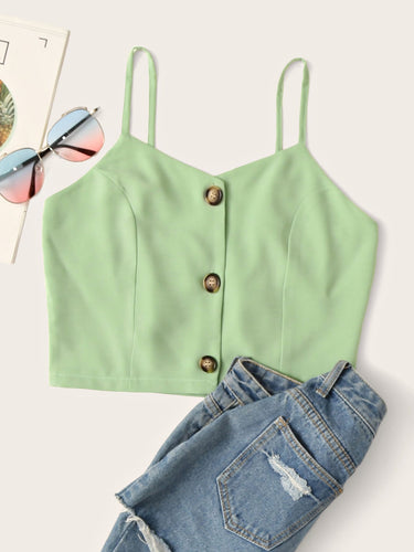 Button Front Cami Top