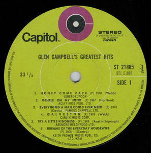 Glen Campbell ‎– Glen Campbell's Greatest Hits