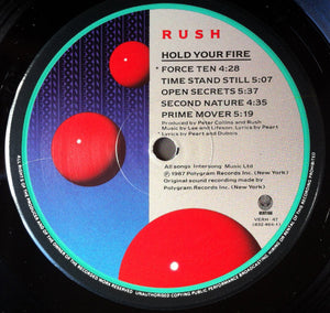 Rush ‎– Hold Your Fire