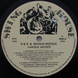 Various ‎– R & B And Boogie Woogie