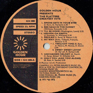 The Platters ‎– Golden Hour Presents The Platters Greatest Hits