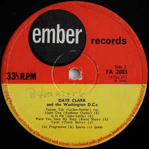 Dave Clark Five* And The Washington D.C.'s* ‎– Dave Clark Five And The Washington DC's
