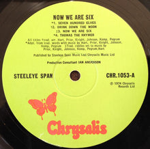 Load image into Gallery viewer, Steeleye Span ‎– Now We Are Six