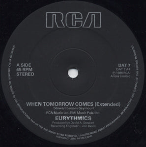 Eurythmics ‎– When Tomorrow Comes