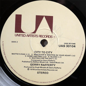Gerry Rafferty ‎– City To City