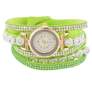 Velvet Clear Rhinestone Weave Watch - Online Women Store