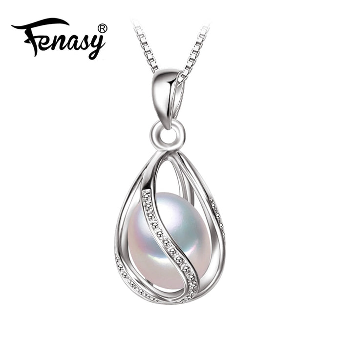 Pearl Pendant cage Necklace - Online Women Store