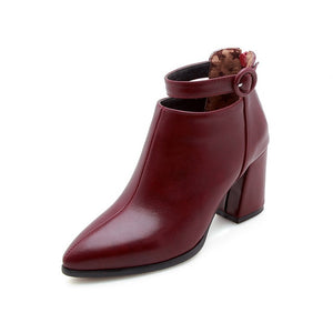 Buckle Ankle Boots - Online Women Store