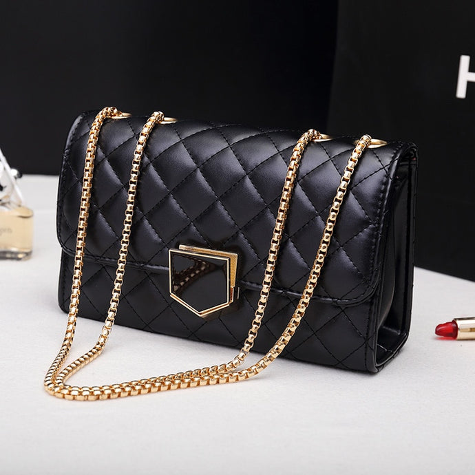 Luxury Lattice Chain Shoulder Bag - Online Women Store
