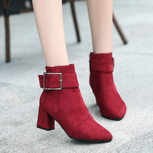 Load image into Gallery viewer, High Heel Buckle Strap Boots - Online Women Store