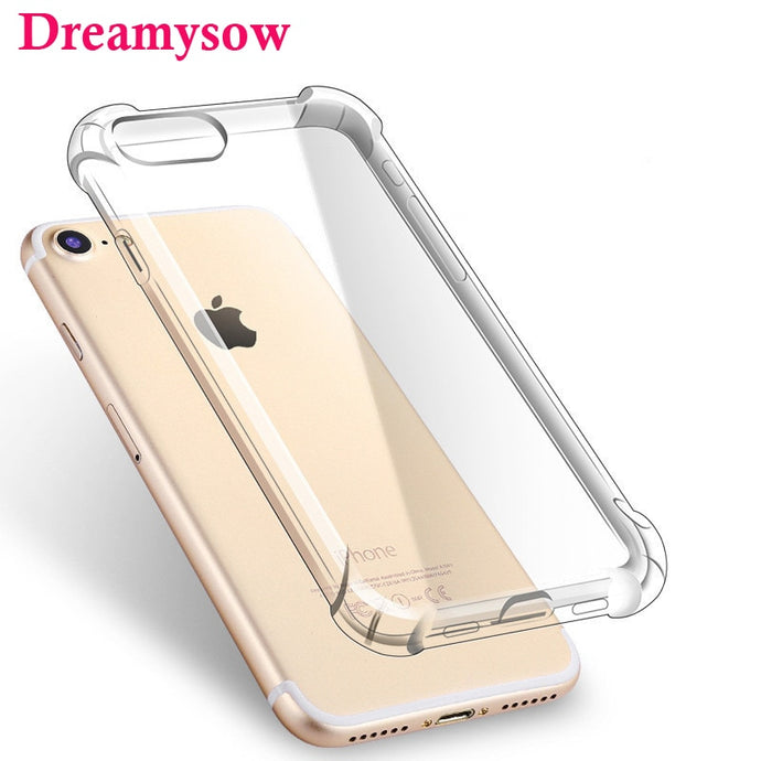 Ultra thin Clear Transparent TPU Silicone Case For iPhone XS MAX XR 6 7 6S Plus Protect Rubber Phone Case For iPhone 8 7 Plus - Online Women Store