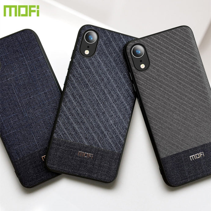 For iPhone Xs Max Case For iPhone Xs Case For iPhone XR Case Cover Mofi Xs Max Back Cover X Business Suit Cloth Style Fabrics - Online Women Store
