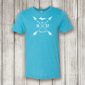 Heather Aqua Short Sleeve