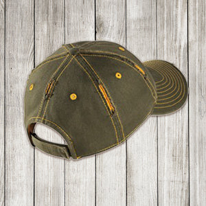Vintage Green/Gold Back of Cap