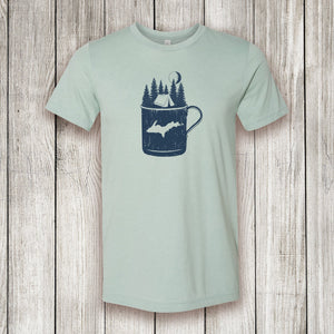 Heather Dusty Blue Short Sleeve