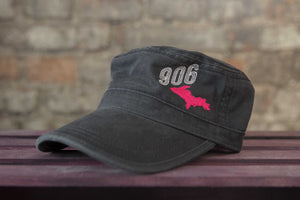 Fidel Cap With Pink and White Embroidered U.P and 906