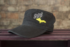 Black Fidel Cap - Neon Yellow U.P
