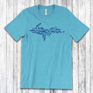 Upper Peninsula Fish Tee