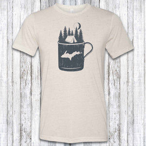 Camp/yooper Mug Dual Exposure Tri-Blend Tee