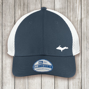 Youth Cap Navy Front White Mesh Back