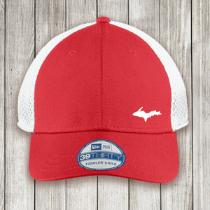 Youth Cap Red Front White Mesh Back