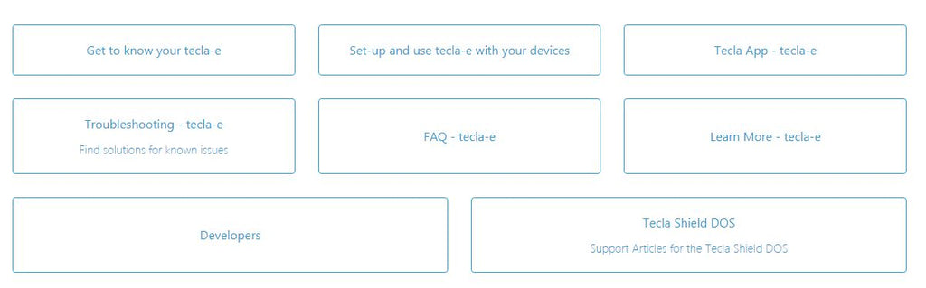 tecla-e - Official Support Page