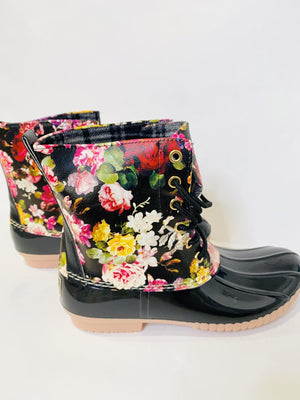 Printed Duck Booties