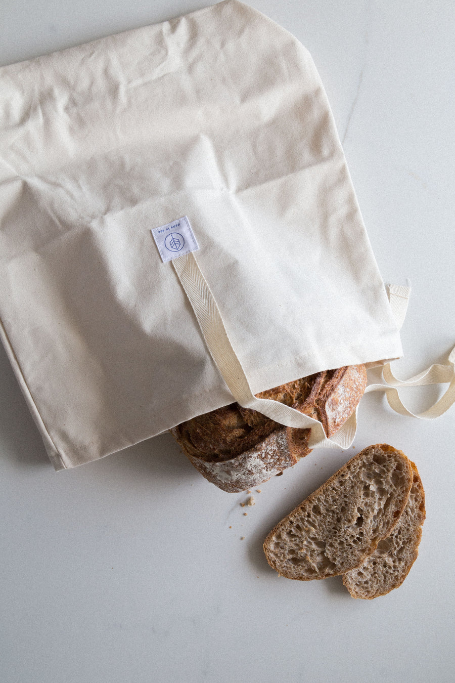 reusable bread bag cotton