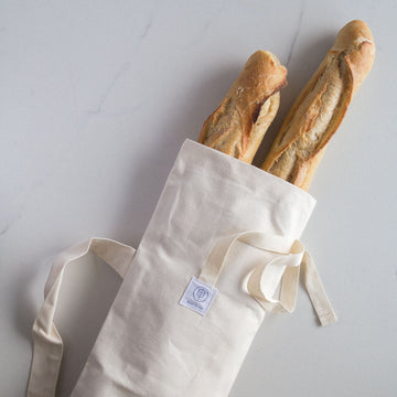 reusable baguette bag cotton