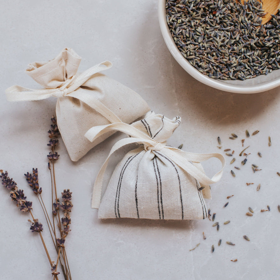 Sachets of dried lavender