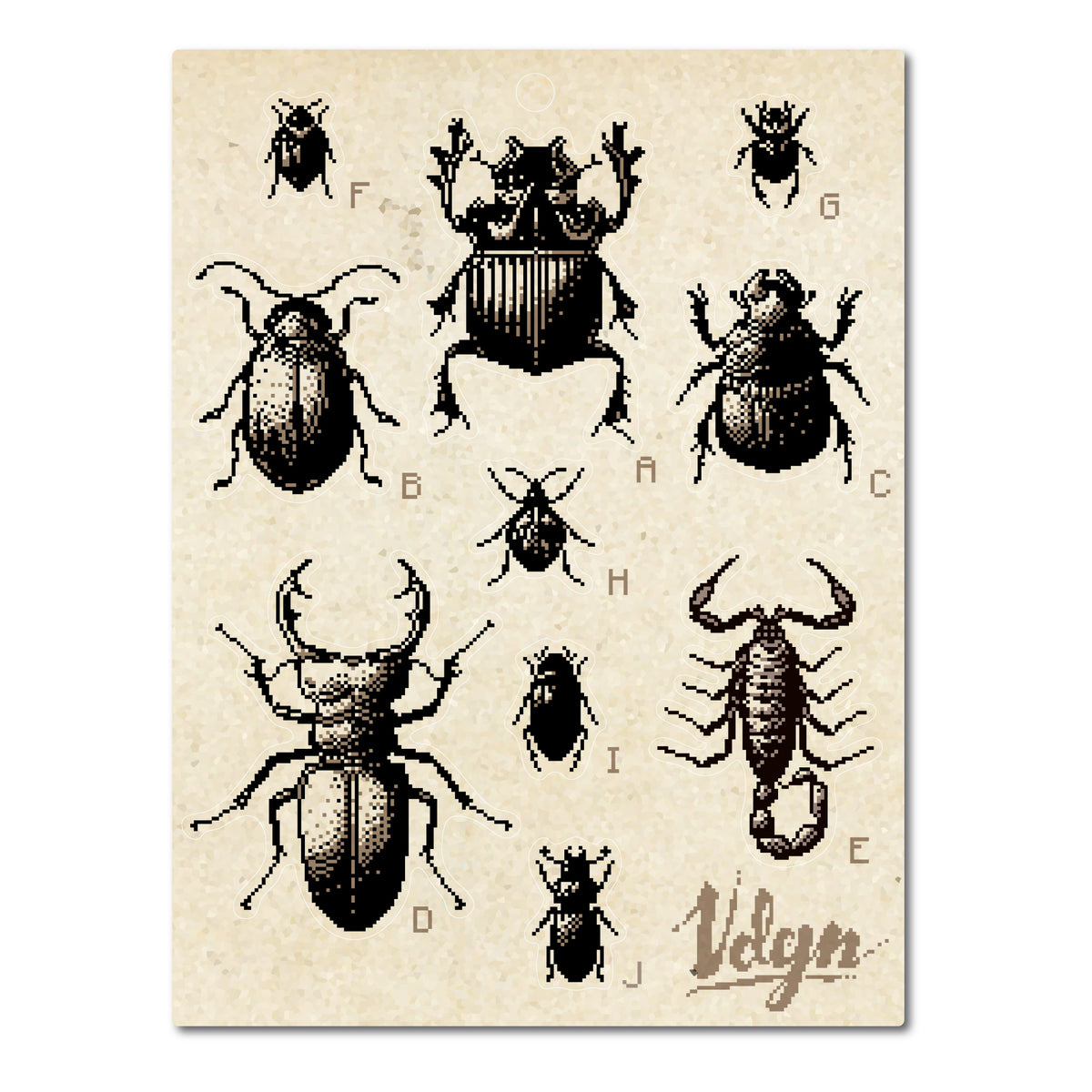 8 Bit Beetles Sticker Sheet