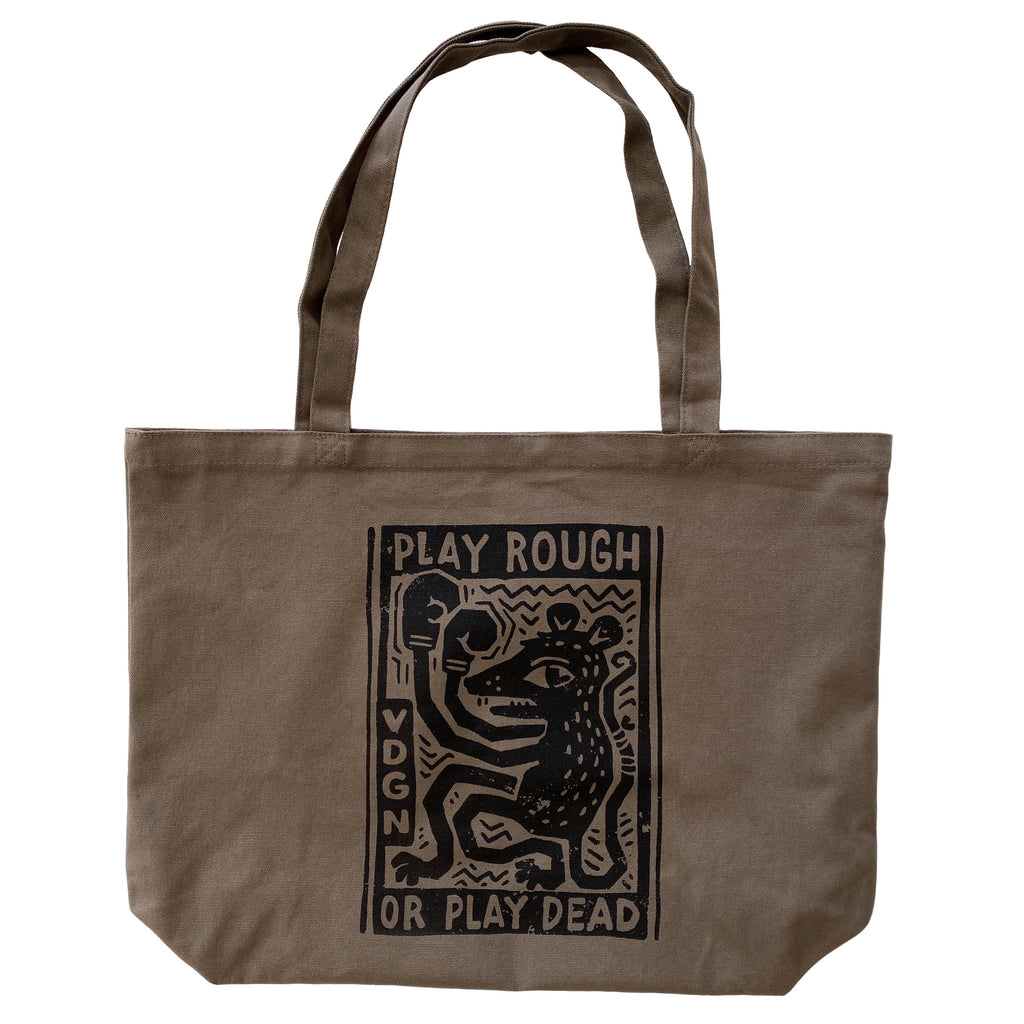 Play Rough Woodblock Tote