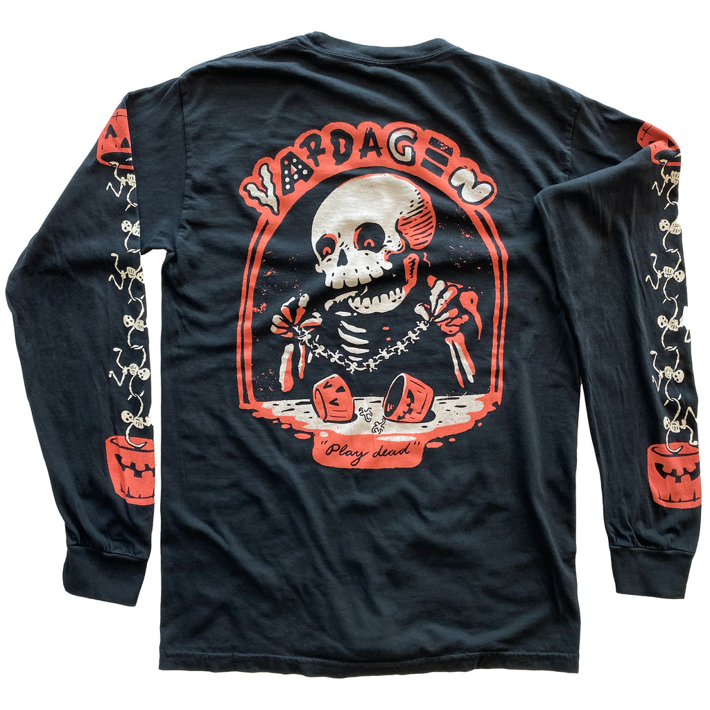 "VDGN ""Play Dead"" Skele-chain Limited Edition Long Sleeve T-shirt Back"