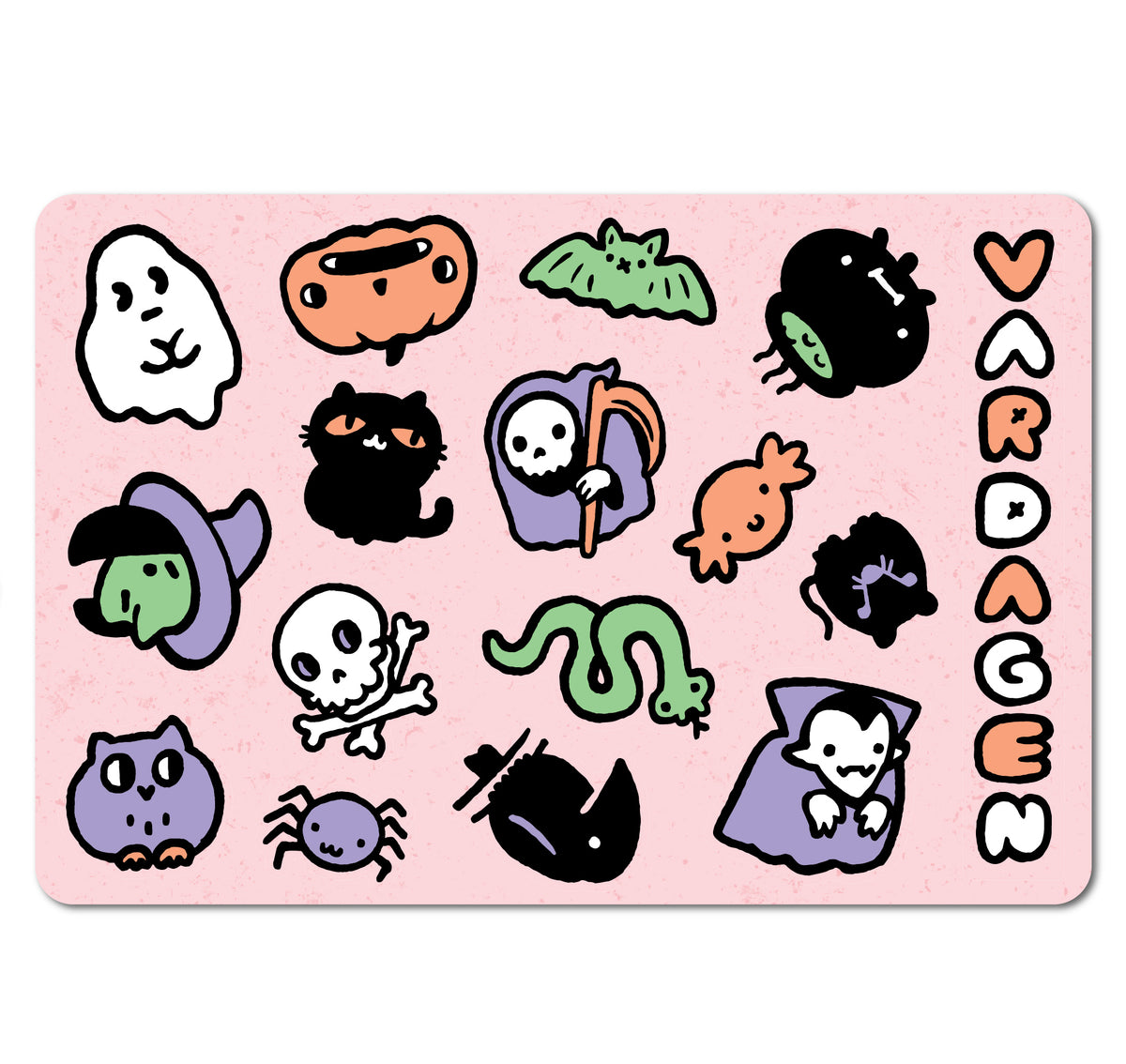 Pastelloween Sticker Sheet