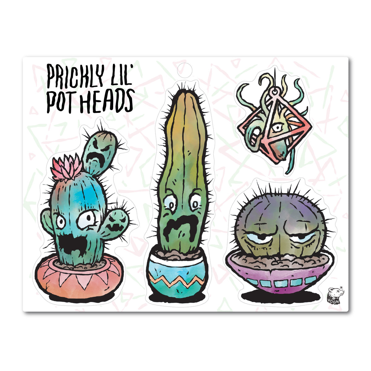 Prickly lil Potheads Sticker Sheet