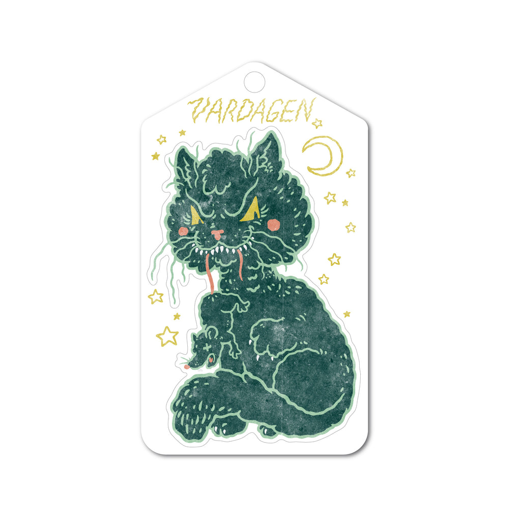 Vintage Black Cat Sticker