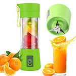 Portable Juicer Bottle - Personal Blender USB Charger Fruit Mixing Machine, Mini Fruit Juice Extractor