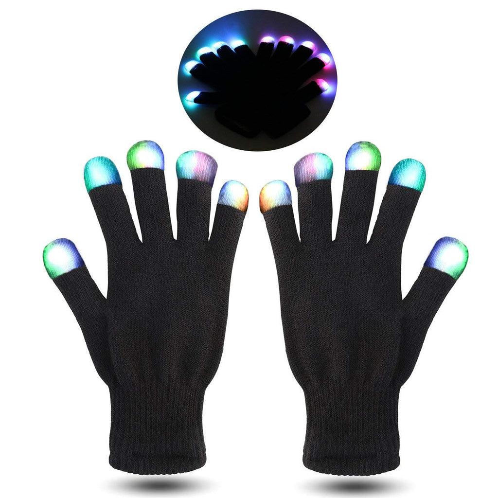 LED luminescent gloves