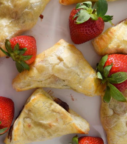 Nutella Strawberry Turnover