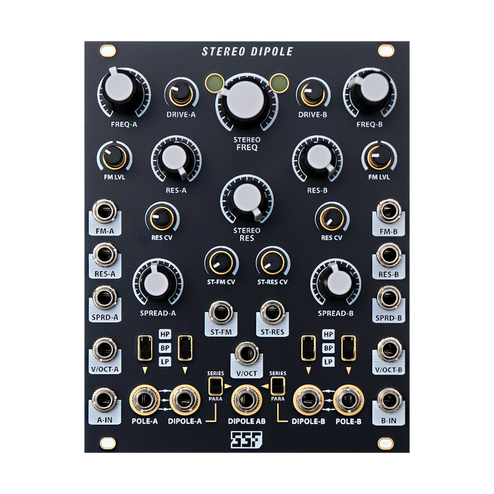 Steady State Fate Stereo Dipole (Black and Gold)