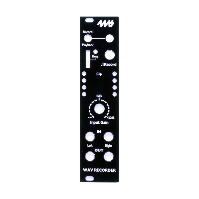 4ms WAV Recorder Black faceplate